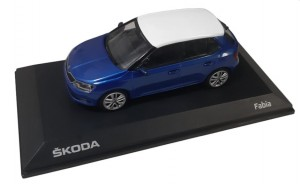 Model Fabia III 1:43 Race Blue + White Roof